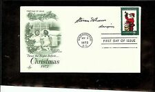 US AUTOGRAPHED 1ST DAY COVER SCOTT#1472,CHRISTMAS-CONTEMPORARY 1 SIGNATURE