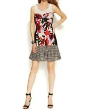 DKNYC Vermillion Sleeveless Mixed-Print Dress Size 12