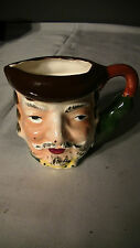 Miniature Hand Painted Toby Face Mug Pitcher Bearded Man