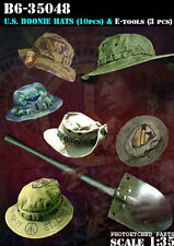 BRAVO-6 35048 U.S. Boonie Hats & E-Tools 1/35 RESIN FIG.