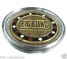 BIG BLIND BUTTON gold color Poker Card Guard Protector