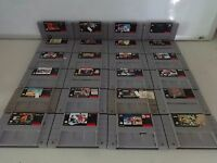 HUGE SELECTION Nintendo Super NES SNES Video GAME Cartridges ONLY Great Titles