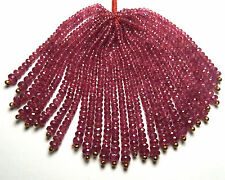 "2.5"" Strand RUBY 2-4mm Faceted Rondelle Beads NATURAL"