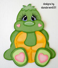 Turtle Boy Girl  Paper Piecing PreMade 4 Border Scrapbook Album danderson651