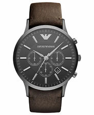 NEW EMPORIO ARMANI AR2462 MENS CHRONOGRAPH STAINLESS STEEL WATCHES