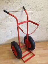 "Single Oxygen Acetylene gas cylinder trolley16"" Pneumatic wheels"