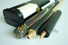 """57"""" 3/4 Jointed Snooker Cue Red Ebony 5 Face-spliced Ash Shaft With Leather Case"""