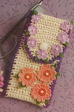 Crochet Pattern ~ Floral Accessory Case Cell Phine or Eyeglasses ~ Instructions