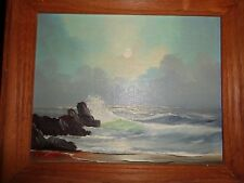 MASCOTT: ocb(gUMBACHER); SEASCAPE AND MOONLIGHT WITH CLOUDS