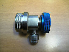 R134a Lo Side coupler with 3/8 flare (larger than 1/4 size normally used)