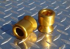 6mm Billet Swingarm Slider / Spools - Yamaha R1 R6 MT-09 FZ-09 Aprilia RSV Gold