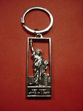 NEW STATUE OF LIBERTY SILVER KEY CHAIN KEYCHAIN SEE THROUGH NEW YORK