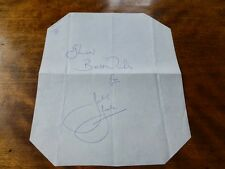 AUTOGRAPH of JOEY JONES - Welsh LIVERPOOL Footballer EUROPEAN CUP Winner 1977/78