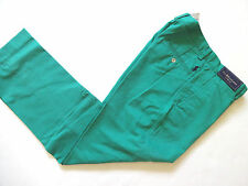 New Ralph Lauren Polo Classic Fit Green Cotton Summer Chino Pants 30 x 30