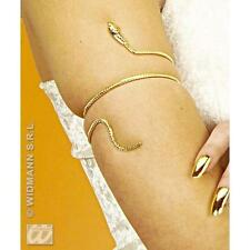Gold Snake Arm Bracelet Egytian Queen Cleopatra Fancy Dress Jewellery Prop