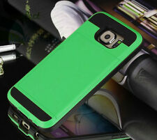 New Slim Card Shock Proof Hybrid Wallet Case Cover Tough Hard For Mobile Phone
