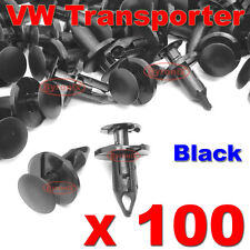 100 VW TRANSPORTER T4 T5 LONGER LONG TRIM PANEL CLIPS BLACK VAN CARPET LINING