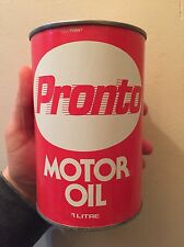 RARE PRONTO BARON PETROLEUM TORONTO MOTOR OIL TIN CAN IMPERIAL QUART SIGN CANADA