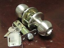 Satin Nickel Keyed Entry Door Knob Residential