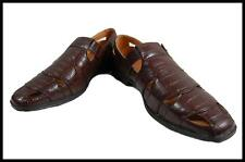 New Amali Men's Dress Sandals White,Oyster,Brown Alligator Print with Buckle