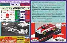 ANEXO DECAL 1/43 LANCIA STRATOS A.BALLESTRIERI R.SANREMO 1974 DnF (01)
