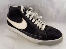 NIKE Basketball Men Size 11.5M Black White High Tops Sneakers