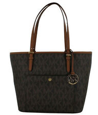 Michael Kors Jet Set Large Snap Pocket Tote/Bag Brown $198