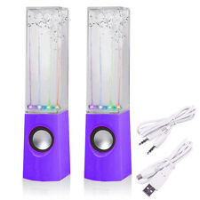 Purple LED Dancing Water Music Fountain Light Speaker for Phones iPad Laptop MP3