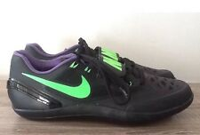NWT Nike Zoom Rotational Shotput/Discus Shoes - Black/Green- #685135-035 - SZ-10