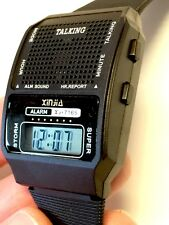 HUMAN VOICE loud clear English TALKING ALARM WATCH Rooster Crow Sound USStock