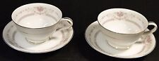 Noritake Benton Footed Tea Cup Saucer Set 6204 TWO EXCELLENT!