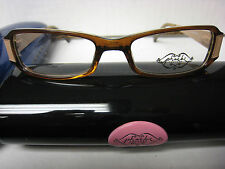 Phoebe Couture  Eyeglass Frames  P226 BROWN  49-17-125 With  Case New