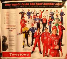 "2004 Indy Cars Series 25 x 21"" Firestone Schedule Poster Dixon Helio Castroneves"