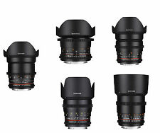 Samyang 5 Piece VDSLRⅡ Cine Lens Kit for Canon - 85.50.35.24.14mm -Warranty