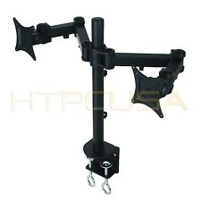 "Dual LED LCD Monitor Desk Mount Stand For Samsung, Acer LG, Asus, HP 27"" Monitor"