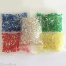 1000Pcs 5MM F5 LED Red Yellow Green Blue White Round led Diode Mixed Color Kit