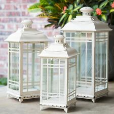 Outdoor Lanterns For Candles Decorative Wedding Centerpiece Metal Off White