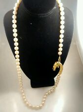 Stunning  statement vintage Les  Bernard faux peal gripoix ramp necklace