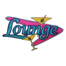 ID 1932 Lounge Bar Club Martini Embroidered Iron On Applique Patch