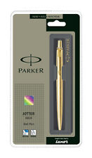 Parker Jotter Gold GT Ball Pen BP (Gold Trim & Body) - New + Quink Blue Ink