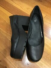 Wittner Heels Platform Black Leather Shoes Size 40 Very Good Condition