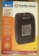 Comfort Zone Portable Ceramic Space Heater Adj Thermostat Room 1500W Save on 2+