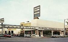 Old Photo. Pasadena, California.  Rusnak Porsche-Audi Auto Dealership