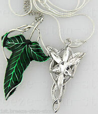 1Set Silver Plated LOTR Lord Of The Ring Hobbits Arwen EVENSTAR Crystal Necklace