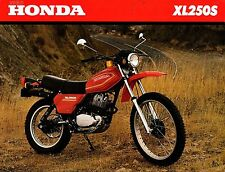 1980 HONDA MOTORCYCLE XL250S SALES BROCHURE SINGLE PAGE TWO SIDED  (489)