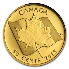 2015 Canada 1/25 oz Proof Gold $0.50 Maple Leaf - SKU #87144