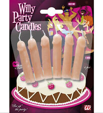 WILLY SHAPED PARTY CANDLES NOVELTY BIRTHDAY  HEN NIGHT PARTY ACCESSORIES