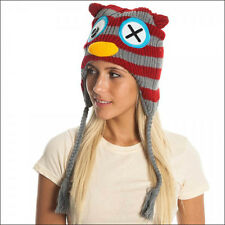Freaks & Friends Juniors Owl Laplander Knit Beanie Hat Cap One Size Kids Adult