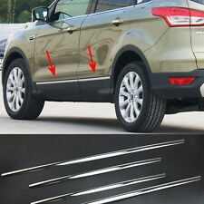 FIT FOR 13- FORD ESCAPE KUGA CHROME DOOR SIDE BODY MOLDING TRIM PROTECTOR STRIP