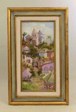 Original 1997 Framed Signed Mardi Roy Oil Painting Colorful Taxco Mexico L6X